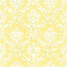 Norwall SD25650 Sunny Yellow Damask Wallpaper