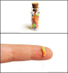 Sour Gummy Worms Bottle Charm by *Bon-AppetEats on deviantART