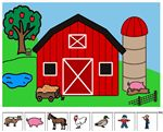 Farm Preposition Scene/Following Directions – Use the farm scene to help your student complete one-step or multi-step directions involving prepositions such as in, on, under, next to, between, etc.