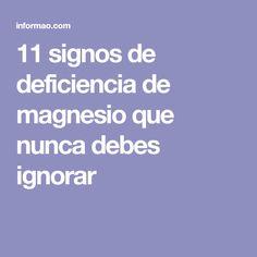 11 signos de deficiencia de magnesio que nunca debes ignorar