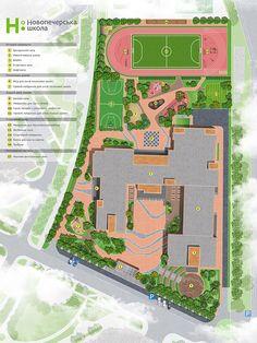 Изображение Architecture Collage, Education Architecture, Concept Architecture, School Architecture, Sustainable Architecture, Landscape Architecture, School Building Design, School Design, School Plan