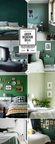 New bedroom green paint colors ideas Green Rooms, Bedroom Green, Green Painted Rooms, Bedroom Color Schemes, Bedroom Colors, Bedroom Neutral, Warm Bedroom, Green Paint Colors, Red Paint