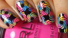Colorful Nails Using Fab Ur Nails Fun 15 ** Nail Stamping