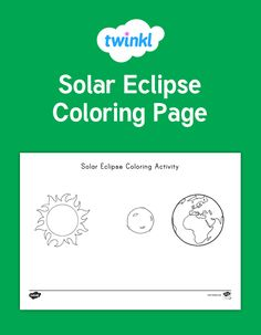 Solar Eclipse Coloring Activity -This lovely coloring sheet features a diagram of a solar eclipse. Great for a variety of activities, you can use them to reinforce fine motor skills, as inspiration for independent writing, or just for fun! Try putting the finished pictures up on display, or send them home for the parents - Twinkl