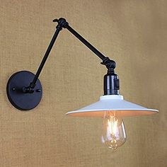 EM Vintage Style Creative Metal Wall Lights Decorative Wall lamp,Retro Industrial Swing Arm Led Wall Light with switch