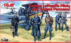 German Luftwaffe Pilots & Ground Personnel 1939-1945 (7 Figures) 1/48 Icm