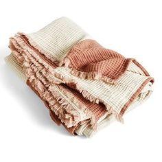 Doing Goods Overkast Tiger 240x280 - Lunehjem.no - Interiør på nett Hay Design, Tactile Texture, Winter Blankets, Silk Bedding, Blue Peach, Composition Design, Plaid Blanket, Cotton Throws, Design Within Reach