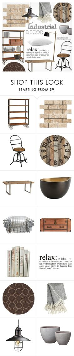 """""""Industrial Vibes"""" by alexandrazeres ❤ liked on Polyvore featuring interior, interiors, interior design, home, home decor, interior decorating, DutchCrafters, WALL, Pier 1 Imports and BoConcept"""