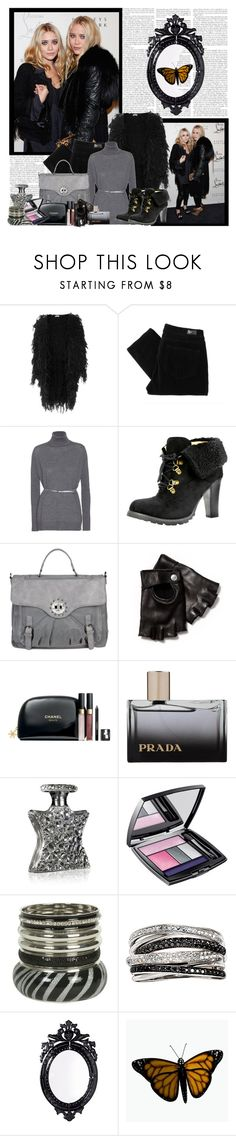 """Mary-Kate and Ashley Olsen"" by rose-weasley-heart ❤ liked on Polyvore featuring Christian Louboutin, Olsen, Gringo, Paige Denim, Miu Miu, Miss Sixty, John Varvatos, Chanel, Prada and Bond No. 9"