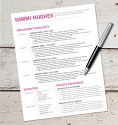 instant download resume design template by vivifycreative - Resume Templates For Ms Word