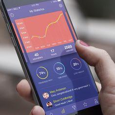 Fitness app. #odessa #app #iphone6 #fitness #ui #ui #ukraine #ios #data #graph…