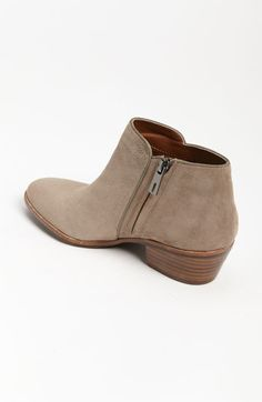 """Sam Edelman 'Petty' Bootie in """"Putty Suede"""" at Nordstrom.com - Supple leather shapes a low-profile bootie with a slight stacked heel."""