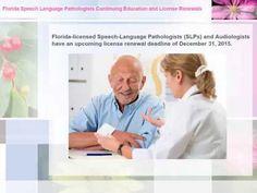 ▶ Florida Speech Language Pathologists Continuing Education and License Renewals - YouTube