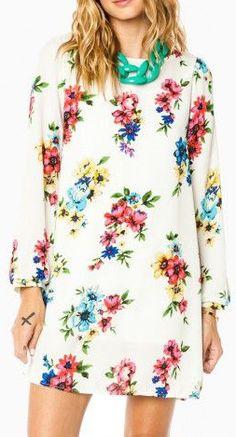 Flower Song Shift Dress