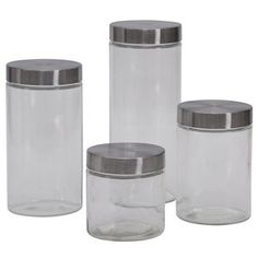 anchor hocking 3 cracker jar glass canister set walmart