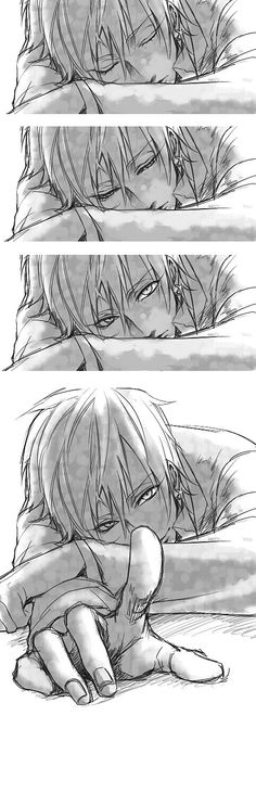 Kise Ryouta caught you looking at him sleeping || http://www.pixiv.net/member.php?id=1868696 [please do not remove this caption with the source]