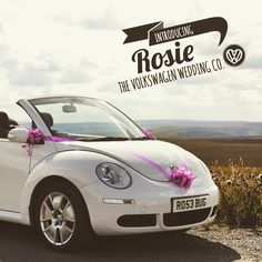 Our gorgeous Volkswagen cabriolet Beetle - Rosie! The modern alternative for a vintage themed wedding!