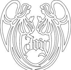 scroll saw angel | Musical Angel vw