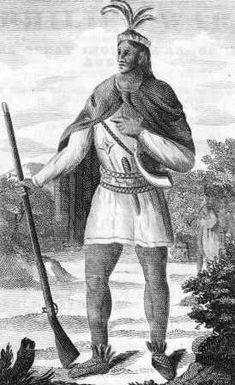 This is Cheif Metacom of the Wampanoag tribe. He felt their way of life was threatened by the English Settlers. He decided war was the only option to save his people. He united the Nipmucks and the Narragansetts and began attacking settlements across New England. The English had to hire Mohegan and Mohawk warriors to kill Metacom. The rebellion ended soon after. This is interesting because it shows that other Native Americans would work with the English to kill other Native Americans.