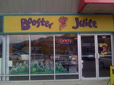 Booster Juice smoothies