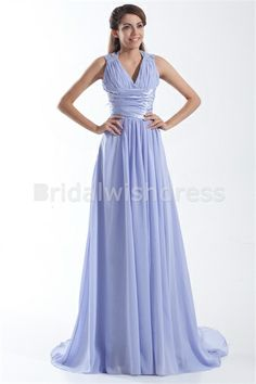 Sleeveless V-neck Apple Formal Evening A-Line Special Occasion Dresses #eveningdress #weddingpartydress
