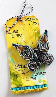love this zipper butterfly!