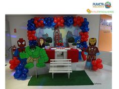 16/09/2016, decoração infantil tema Lego Marvel realizado por Ateliê Rita Calheiros no Planeta Imaginário.