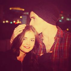Lucy Hale and Ian Harding.. LOVE this picture!!