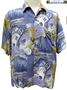 MOELLEUSE LARGE Bahamas STYLE  Cotton Mens short sleve shirt.... SH17