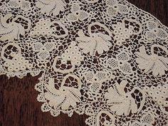 Antique Irish Crochet Lace Collar or Stole by EmsHeartAntiqueLinen
