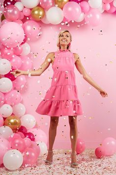 Spring is here! Shop the perfect outfits only at Mud Pie! #mudpiegift #summer #spring Day Dresses, Summer Dresses, Pink Dresses, Mud Pie Gifts, Tiered Dress, Women's Summer Fashion, Leggings Fashion, Affordable Fashion, Party Dress