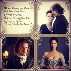 #OutlanderWedding Ye are blood of my blood #JAMMF #ClaireRandall