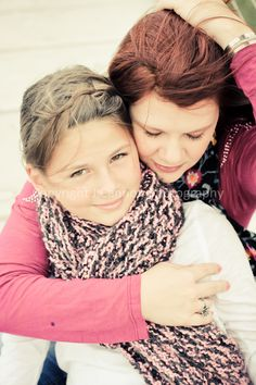 Mother daughter phot