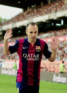 Iniesta Barcelona Football, Fc Barcelona, Best Player, Dna, My Love, Sports, Hs Sports, Sport