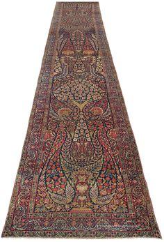 LAVER KIRMAN, Western Persian 2ft 8in x 15ft 8in Circa 1900 http://www.claremontrug.com/