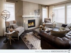 20 Gorgeous Living Room Furniture Arrangements--Sierra Showhome...no fireplace though.