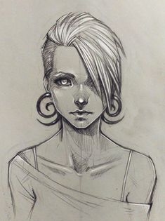 Random girl by sashajoe.deviantart.com on @deviantART. Sketch / Drawing Inspration: