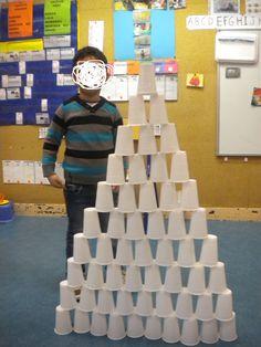 résoudre un problème défi 2 : construire une pyramide avec les gobelets...