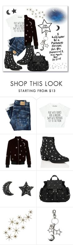 """""""Moon and Stars-Night Sky"""" by markitahamilton3 ❤ liked on Polyvore featuring Yves Saint Laurent, Y.R.U., RED Valentino, Global Views, contest, friends, giveaway, keychains and etoileboutiqueny"""