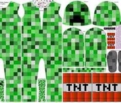 Too bad this doesn't come in adult size would so buy as a gag for Son. Block Pixels Costume for Knit Fabric, Size Years fabric by joyfulrose on Spoonflower - custom fabric Minecraft Halloween Costume, Creeper Costume, Minecraft Costumes, Family Halloween Costumes, Boy Costumes, Halloween Goodies, Halloween Crafts, Halloween Ideas, Costume Patterns