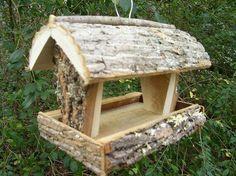 RUSTIC Bird feeder / squirrel feeder --- handmade in Appalachian mountains of NC [post_tags Rustic Bird Feeders, Wood Bird Feeder, Squirrel Feeder, Bird House Feeder, Homemade Bird Houses, Homemade Bird Feeders, Bird Houses Diy, Garden Projects, Wood Projects