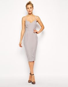 Simple But Gorgeous Asos Plain Hitch Pencil Dress