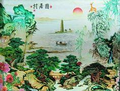 Chinese Painting on Glass - Deep Etch/Sandbalst