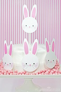 Free 3-D Easter Bunny Party Printables from thecelebrationshoppe.com