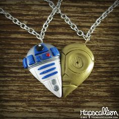 The R2-D2 & C-3PO Friendship Necklace For Geeky Besties #starwars #geek