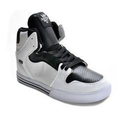 Shop Supra Shoes Society Mid Shoes White/Black