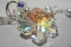 Swarovski Clear Aurora Borealis Snowflake Crystal by NataliaKh, $35.77