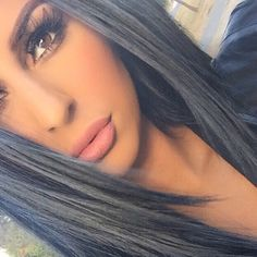Bold lashes and a nude lip. Falsies in Volume Vortex and Bare It All Mega Last�