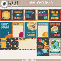 These 14 Inside Life Cards come in 4x4, 3x4 and 4x6 sizes for all your Project Life/Pocket Scrapbooking projects. There is also a pdf document ready to print for your hybrid pages.