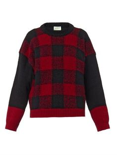 Bi-colour checked wool sweater | Aries |  www.CallToStyle.com  link to buy: http://rstyle.me/n/qff626jwn